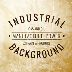 Industrial label.