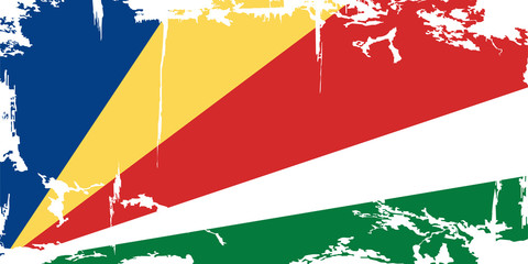 Seychelles grunge flag. Vector illustration