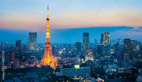 Plexiglas Tokyo Tokyo Tower bei Nacht