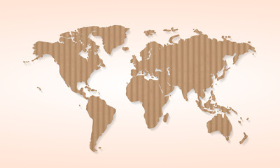 World map cardboard