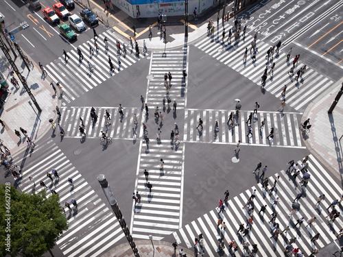 Fotobehang Tokyo Fußgänger in Tokio Japan