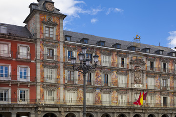 Plaza Mayor and tourist, Madrid city centre