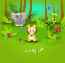 Jungle background template