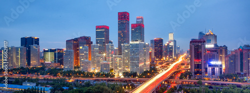 Deurstickers Beijing Beijing Skyline
