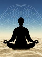 In Meditation über den Wolken