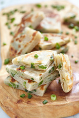 Chinese green onion pancakes