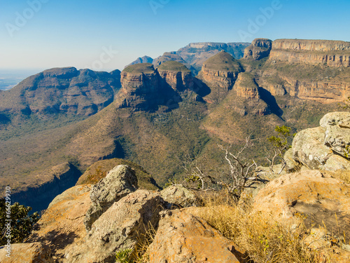 Scenic view of the Three Rondavels, South Africa