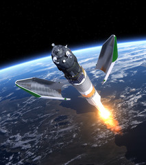 "Launch Of Cargo Spacecraft ""Progress"""