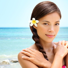 Spa wellness beach beauty woman