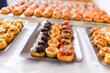 Mixed canape buffet