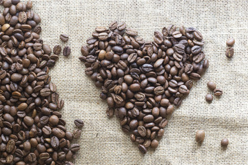 Heart coffee