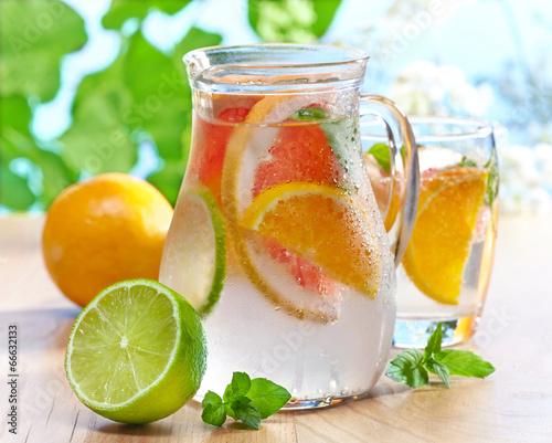 cold citrus fruit drink