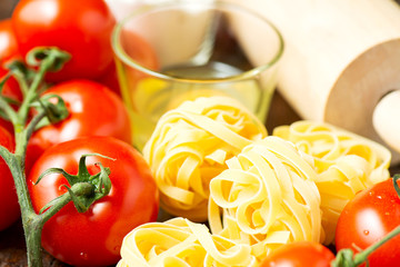 Ingredients for cooking healthy mediterranean dish