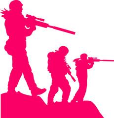 Soldatinen Girls Frauen Mädchen Pink