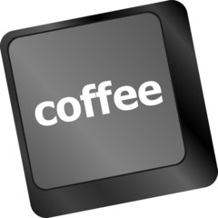 computer keyboard keys with coffee break button