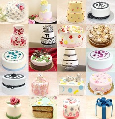 Collage de tartas decoradas