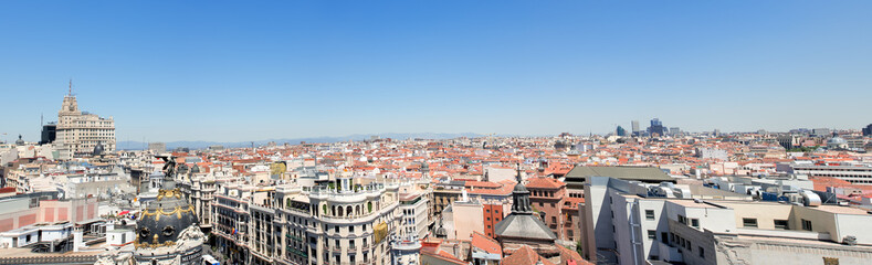 Panorama view on Barcelona City