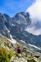 Turysta w górach
