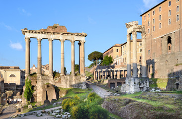 The Roman Forum in the early morning, Rome