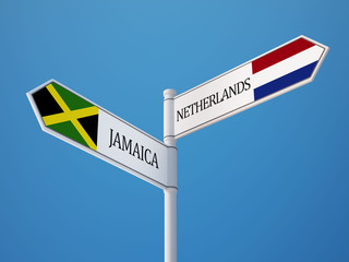 Netherlands Jamaica  Sign Flags Concept