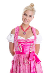 Freisteller: Attraktive Frau aus Bayern am Oktoberfest