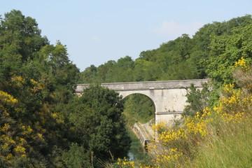 Charente-Maritime -Pont de Dompierre-sur-mer canal de Marans