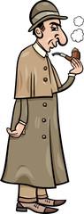 retro detective cartoon illustration