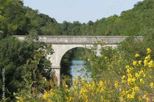 Papiers peints Pont Charente-Maritime - Dompierre sur Mer Pont canal de Marans