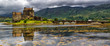 Leinwanddruck Bild - Panoramic of Eilean Donan Castle, Highlands, Scotland