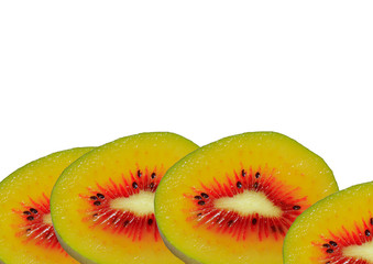 4 slices of kiwi fruit new variety