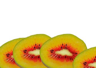 4 slices of kiwi fruit new variety