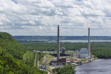 Power Plant In River Valley
