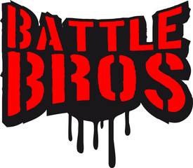 Battle Bros brüder Team Crew Squad stempel graffiti