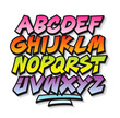 Bright cartoon comic graffiti doodle font alphabet. Vector - 66638933