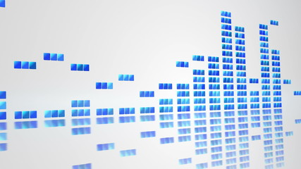 digital equalizer on white loopable background