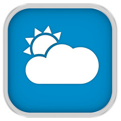 Mainly clear or partly cloudy with sunny intervals sign