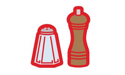 Salt and pepper illustration vector