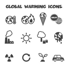 global warming icons