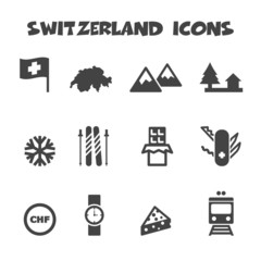 switzerland icons