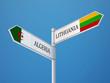 Постер, плакат: Lithuania Algeria Sign Flags Concept
