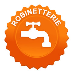 robinetterie sur bouton web denté orange