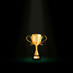 Vector trophy  dark background
