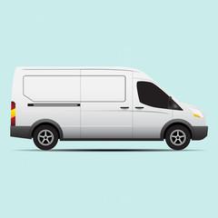 van transport vector concept