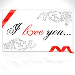 i love you lettering - vector eps10