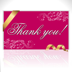 Thank you note, lettering - vector eps