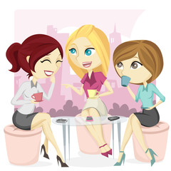 Gossip Office Girl Illustration
