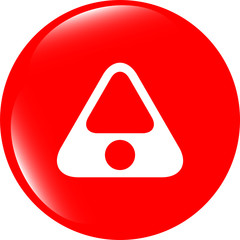 Attention caution sign icon. Hazard warning symbol
