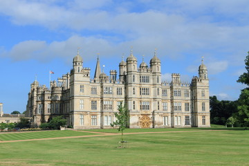 Burghley House, medieval castle in Stamford, England