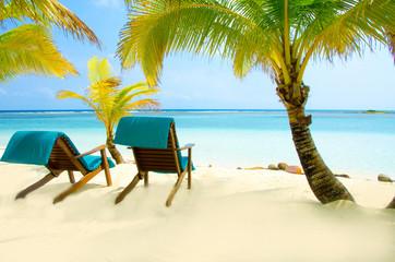 Chair on beautiful beach