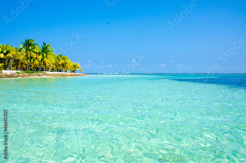 Fotobehang Caraïben Paradise Beach on beautiful island South Water Caye - Belize